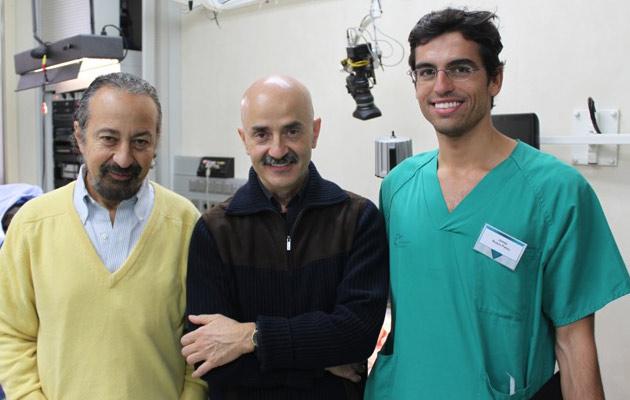 El doctos Rubio junto con Giovanni Botti y Mario Pelle Ceravolo