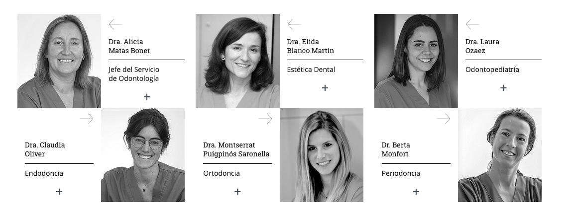equipo odontología Quironsalud Barcelona